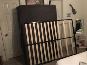 Full size bed frame + mattress for Sale in Orlando, FL