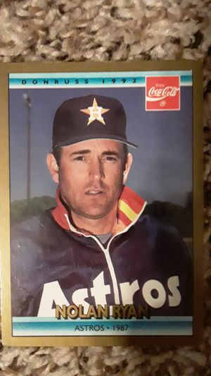 Nolan Ryan Baseball Card Astros 1987 for Sale in Fort Worth, TX
