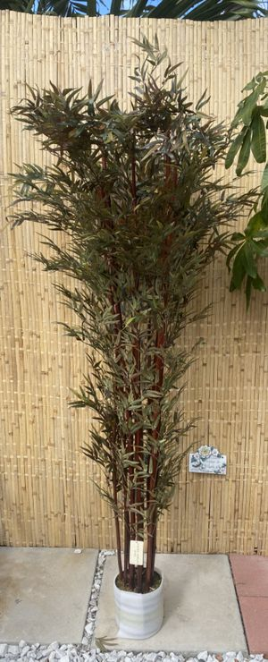 BRAND NEW Vintage Home 8 Foot Tall High End Silk Realistic Bamboo Tree with Decorative Planter for Sale in Hialeah, FL