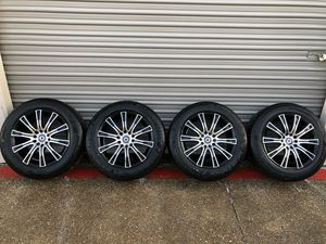 """16"""" black machined rims with tires for Sale in Fort Worth, TX"""