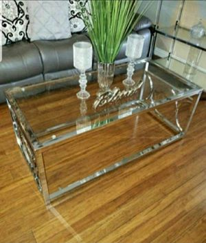 Coffee Table in Chrome for Sale in Chino, CA