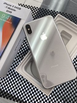 Apple iPhone X 64GB T-Mobile Excellent Condition! With Box for Sale in Vancouver,  WA