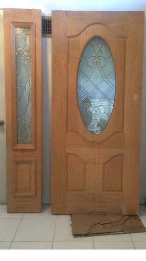 New never used Solid oak door with side light reduced to $600 for both Mesa Alma School / Baseline for Sale in Mesa, AZ