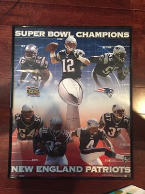 Super Bowl Champions 39 Official Poster for Sale in Wayland, MA