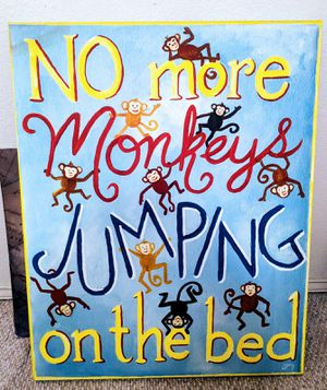 Large Wall Decor • No More Monkeys Jumping On The Bed... for Sale in Midlothian, TX