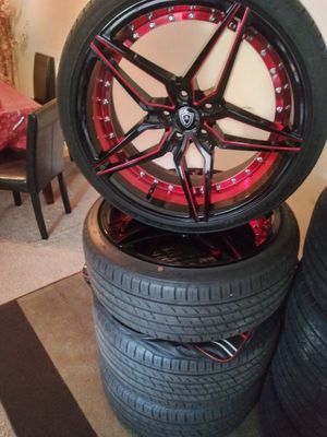 VENDO RINES MANCA CONVE LUXURY. ZAIZ 20X10.5. 20X9. 5X114.3. ESTAN SEMI NUEVOS for Sale in UNIVERSITY PA, MD