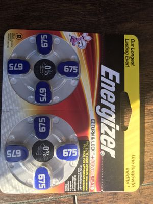 Energizer Batteries Size 675 EZ Turn and Lock Hearing Aid, Lot of 5. Brand New Unopened Box! for Sale in Bethesda, MD