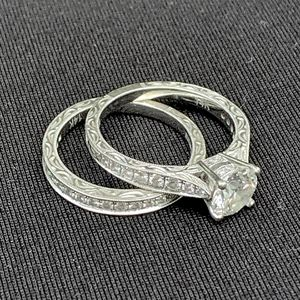 Diamond Engagement Ring & Wedding Band, 14K white gold, 1.68 CTW for Sale in Fayetteville, NC