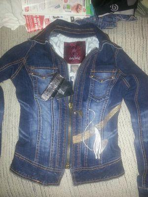 NEW Baby Phat stretch Jean jacket size S for Sale in Glen Burnie, MD