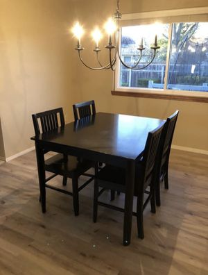Black Chairs And Table Set for Sale in Salem, OR