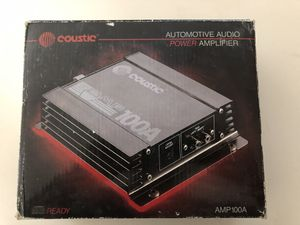 COUSTIC AMP -automotive audio amplifier 100A for Sale in Adamstown, MD