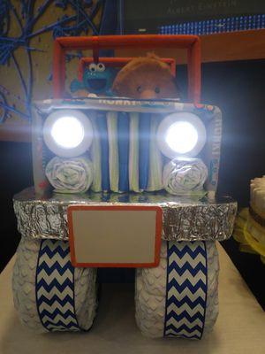 Boys jeep diaper cake for Sale in Columbus, OH