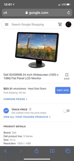 Dell Monitor for Sale in Pekin, IL