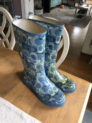 Coach rain boot for Sale in Medford, MA