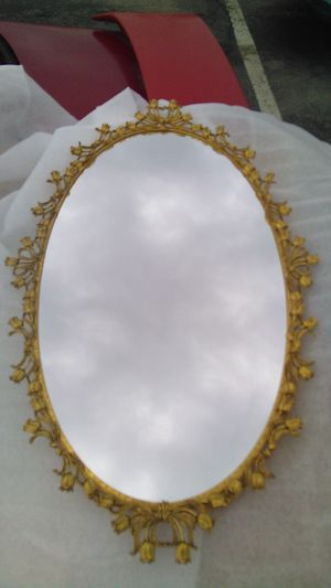 "Vintage 1950s Large Ornate Vanity Mirror Dresser Tray Filagree Oval 21"" x 13"" for Sale in Shepherdsville, KY"
