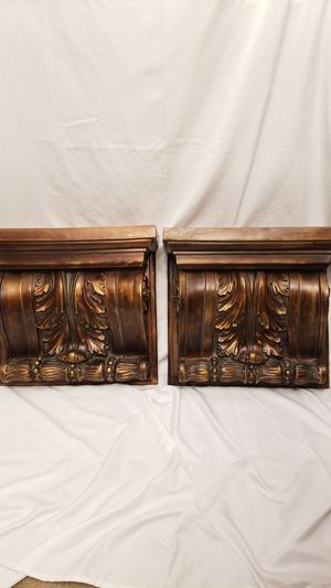 2 Wall shelves gold for Sale in Fort Worth, TX