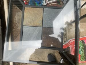 Nice tile&glass coffee table and 2 end tables for Sale in Leesburg, VA