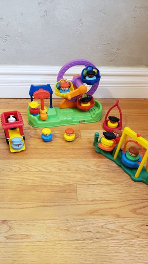 Fisher Price Little People Ferris Wheel and Vintage Teeter Totter Playset for Sale in Phoenix, AZ