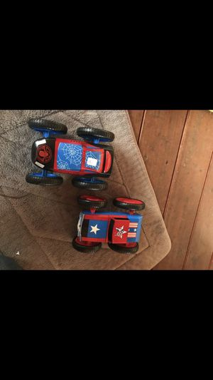 Spiderman and Captain America toy cars for Sale in Fairview, OR