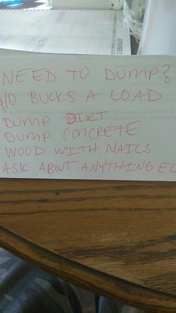 Dump dirt, concrete, and wood for Sale in East Wenatchee,  WA