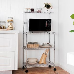 3-Tier Kitchen Microwave Baker Stand Storage Cart Rack for Sale in Lake Elsinore, CA