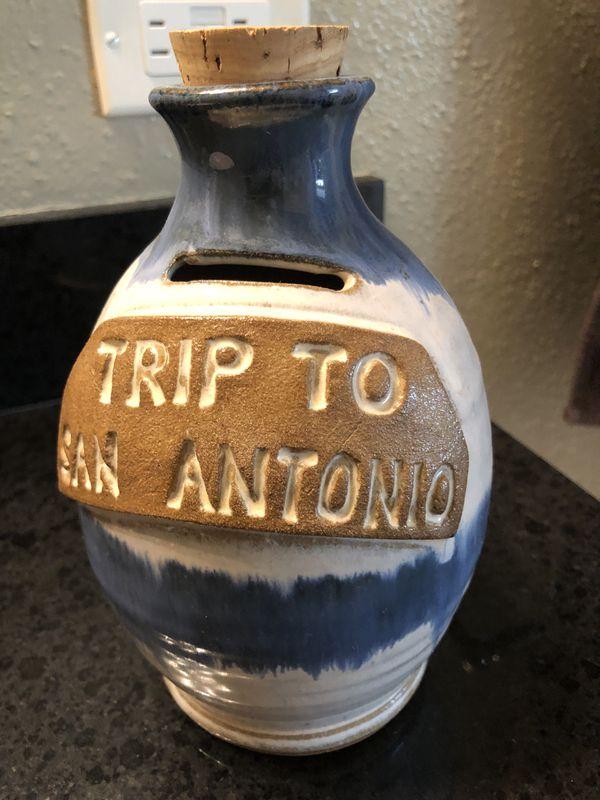 Trip to San Antonio Pottery Piggy Bank