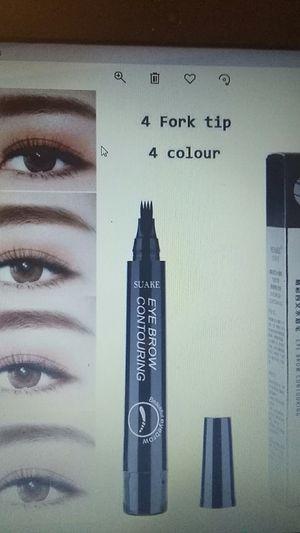 4 Micro Fork Tip Eyebrow Tattoo Pen Fine Liquid Waterproof Eyebrow Pen Grey for Sale in BRECKNRDG HLS, MO