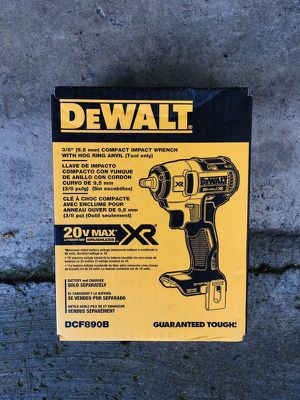 """New DeWalt XR 3/8"""" Compact Impact Wrench (Tool Only) for Sale in Modesto, CA"""