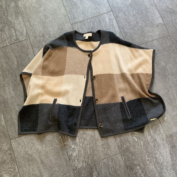 Michael Kors button up poncho