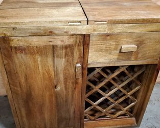 solid wood wine cabinet for Sale in North Bend,  WA