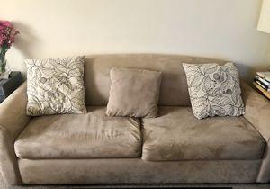 Light Tan Suede Sofa for Sale in Pasadena, CA