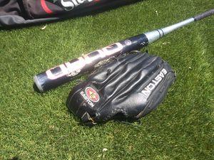 Softball bag, aluminum bat, and glove!! for Sale in Queen Creek, AZ