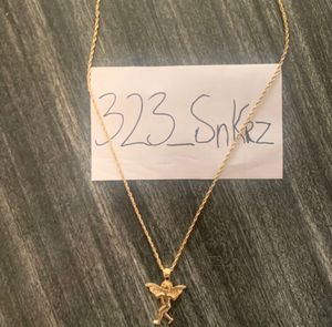 Gold 14k rope chain with angel charm for Sale in Los Angeles, CA
