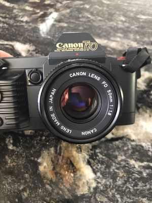 Canon T70: 35 mm camera with flash and lens for Sale in Wall Township, NJ