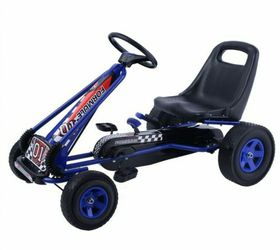 4 Wheels Kids Ride On Pedal Powered Bike Go Kart Racer Car Outdoor Play Toy-Blue for Sale in South El Monte,  CA