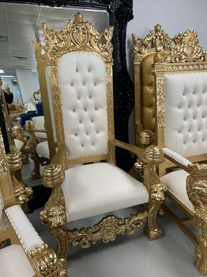 $595 in stock throne sofas @ Chiseled Perfections 📞469.73O.2OI4📞 DFWs hottest store for throne chairs for Sale in Dallas, TX