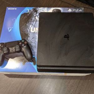 Sony PlayStation 4 PS4 Slim 1TB Jet Black Console - Power Cord - HDMI Cable Only for Sale in Fort Lauderdale, FL