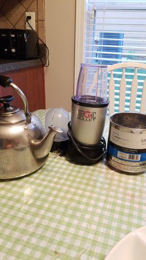 Set of 3/Sifter/Magic Bullet Blender/Tea Pot for Sale in Cumming, GA