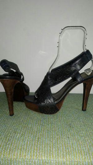 Diane von Furstenberg black leather sandals sz10.5 for Sale in Lilburn, GA