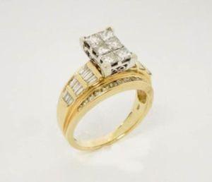 14K Yellow Gold & Diamond Engagement Wedding Cocktail Ring ⭐️ 60 Diamonds Total! Size 8.25 / 8.6g / 2.12 ctw Comes with Appraisal ($4400) for Sale in Palo Alto, CA