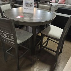 NEW, GRAY ROUND TABLE DINING SET. for Sale in Santa Ana,  CA