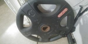 Rubber coated 45 lb Olympic weight plate for Sale in Fresno, CA