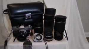 Canon 35mm SLR m# FTb-QL W/ 3-- Lenses for Sale in Tampa, FL