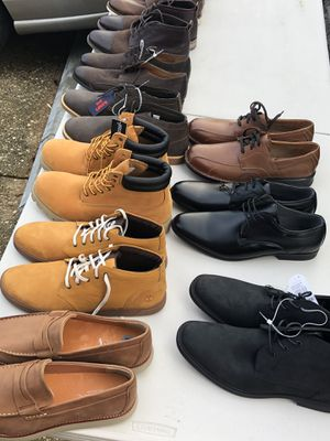 Dress shoes & boots (Perry Ellis, Timberland, Steve Maden) size 12 & 13 new and slightly used for Sale in Lanham, MD