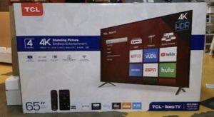 "65"" TcL roku smart 4K hdr led tv for Sale in Las Vegas, NV"