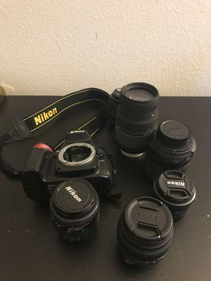Nikon D90 + 50mm 1.4 + 50mm 1.8 + 3 other lenses + Camera Bag + carrying case for Sale in Rockville, MD