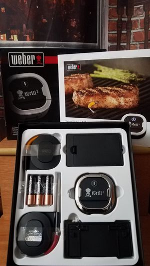 Weber 7204 iGrill 3 Bluetooth Smart BBQ Grill Thermometer for Sale in Tampa, FL