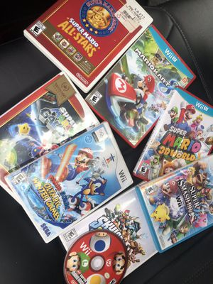 Nintendo Wii U games Mario and super smash for Sale in Lawrence, MA