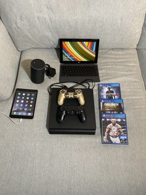 IPad, Surface Pro, Amazon echo and PS4 with 3 games and controllers for Sale in Miami, FL