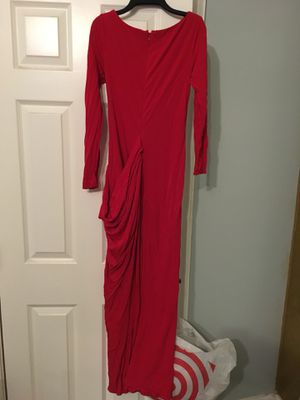 Badgley Mischka Authentic red long sleeve gown dress size 4 for Sale in Franconia, VA
